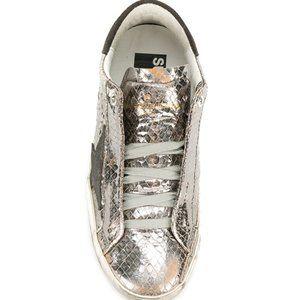 Golden Goose Shoes - Golden Goose Superstar Smock Silver Vipe